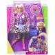 Лялька Барбі Екстра Модниця у блискучій куртці з пухнастими рукавами Barbie Extra Doll #8 in Pink Sparkly Varsity Jacket with Furry Arms & Pet Teddy Bear