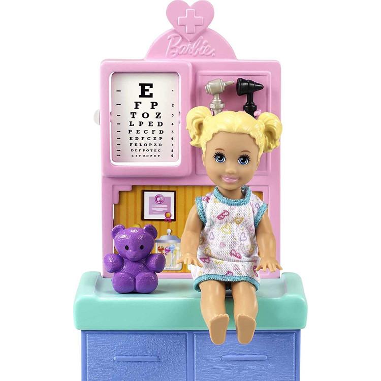 Кукла Барби Я могу быть Педиатр Barbie Careers You Can Be Anything Pediatrician Playset, Brunette Doll
