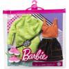Одежда для кукол Барби Barbie Fashions 2-Pack, Green Sweatshirt Dress, Orange Sleeveless Top & Black Skirt