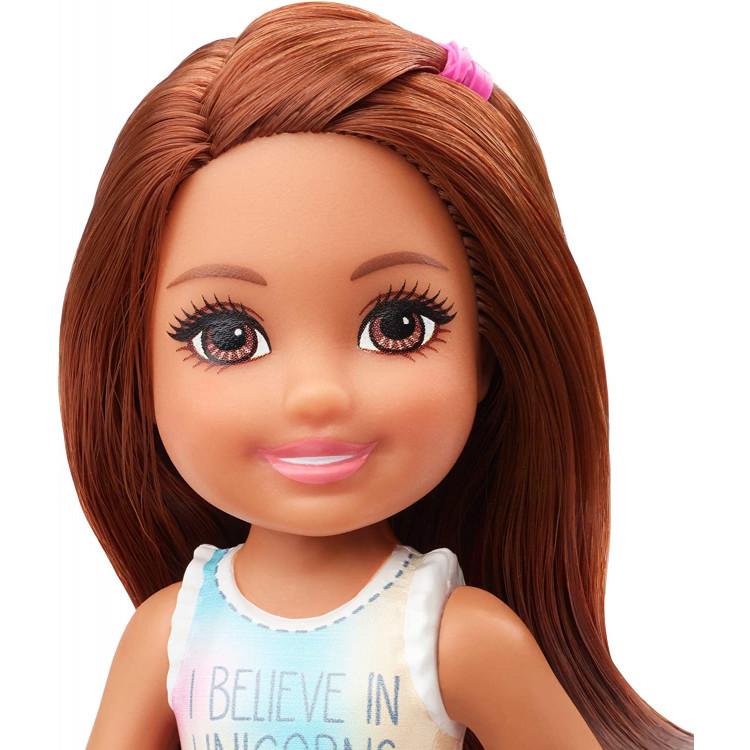 Лялька Барбі Челсі у топі з єдинорогом Barbie Club Chelsea Boy Doll, Brunette