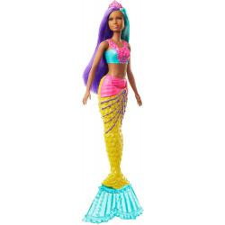 Лялька Барбі Дрімтопія Русалонька з бірюзово-бузковим волоссям Barbie Dreamtopia Mermaid Doll, Teal and Purple Hair
