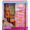 Ігровий набір для спальні Лялька Барбі та ліжко Barbie Doll and Bedroom Playset