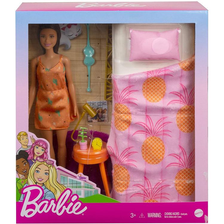 Игровой набор для спальни Кукла Барби и кровать Barbie Doll and Bedroom Playset