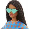 Кукла Барби Модница Barbie Fashionistas Doll, Heart Print Matching Top & Shorts & Twisted Hairstyle 172
