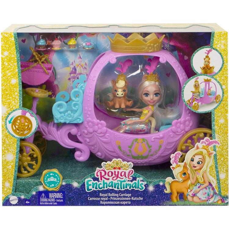 Игровой набор Королевская карета с куклой Пеола Пони Royal Enchantimals Rolling Carriage Playset with Peola Pony Doll
