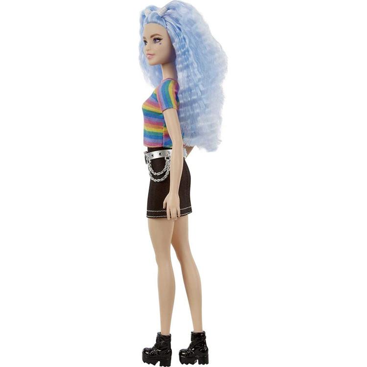 Лялька Барбі Модниця Barbie Fashionistas Doll, Rainbow Striped Top & Black Skirt 170