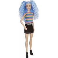 Кукла Барби Модница Barbie Fashionistas Doll, Rainbow Striped Top & Black Skirt 170