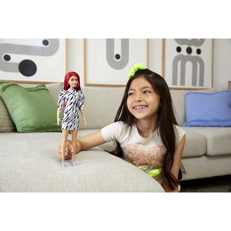 Кукла Барби Модница Barbie Fashionistas Doll, Animal Print Dress Short Red Hair 168