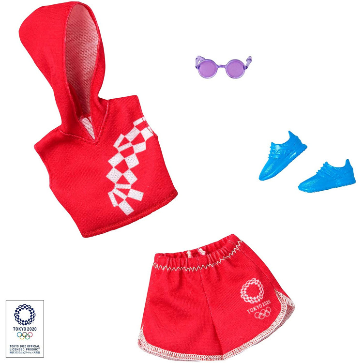 Одежда для кукол Барби Barbie Clothes: Olympic Games Tokyo 2020 Doll, Sport Top & Skirt