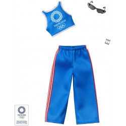 Одежда для кукол Барби Barbie Clothes: Olympic Games Tokyo 2020 Doll, Tank Top & Athleisure Pants