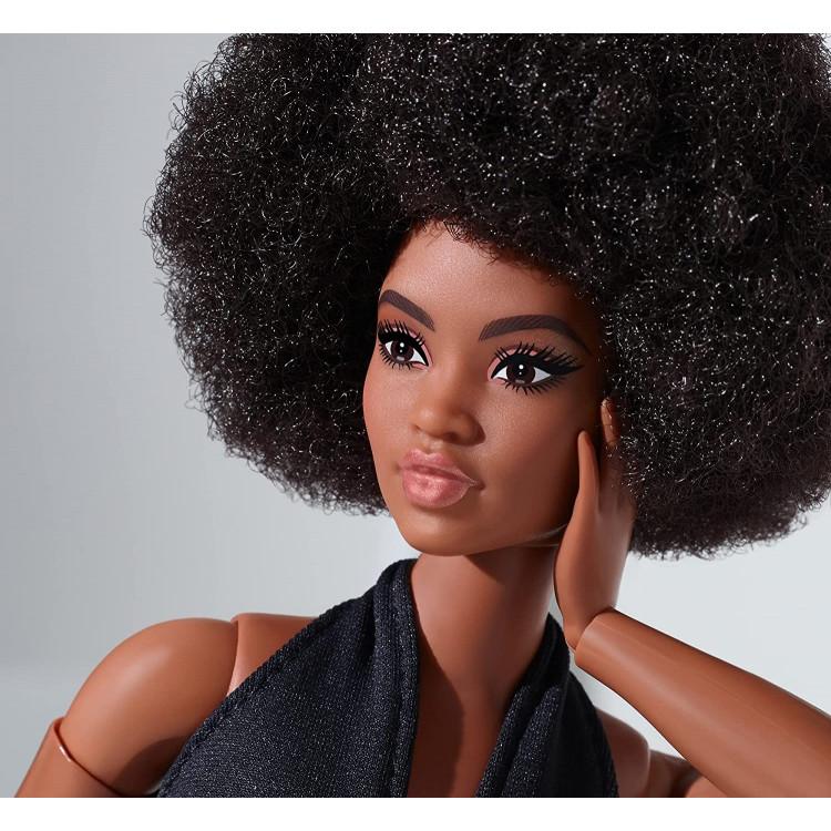 Кукла Барби коллекционная Пышная брюнетка Barbie Signature Looks Doll, Curvy Brunette #2