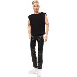 Кукла Барби Кен коллекционный Блондин Barbie Signature Looks Ken Doll, Blonde with Facial Hair #5
