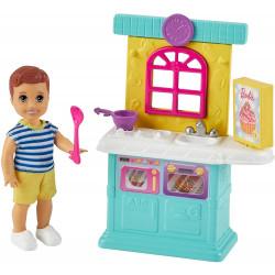 Кукла Барби Скиппер Малыш и кухня Barbie Skipper Babysitters Inc. Small Toddler Doll & Kitchen Playset
