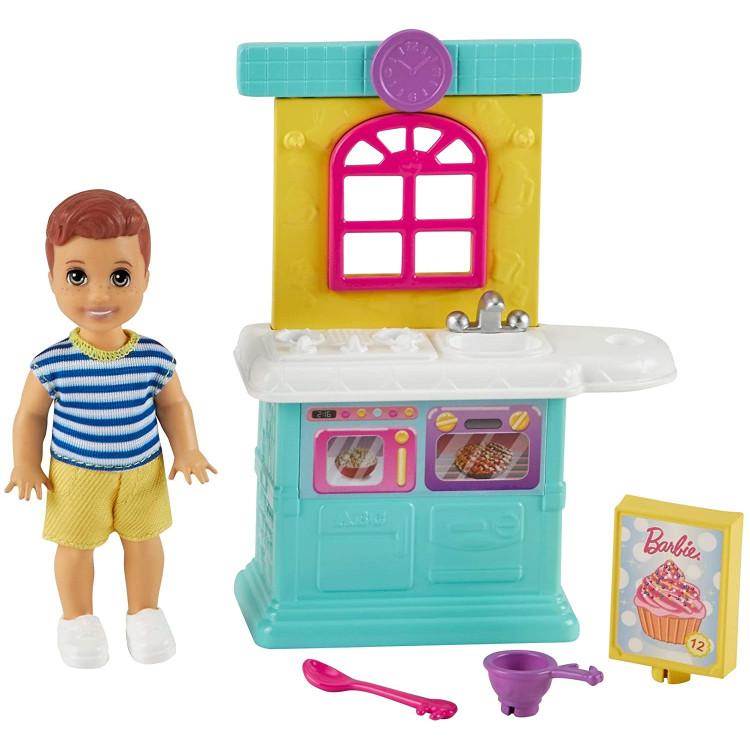 Лялька Барбі Скіппер Малюк та кухня Barbie Skipper Babysitters Inc. Small Toddler Doll & Kitchen Playset