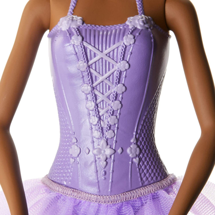 Кукла Барби Балерина темнокожая в феолетовой пачке Barbie Ballerina Doll Purple Tutu, Dark Brunette