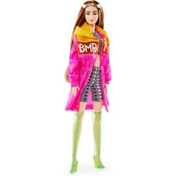Кукла Барби Barbie BMR1959 Fully Poseable Fashion Doll Color Block Windbreaker, Bike Shorts and Vinyl Boots