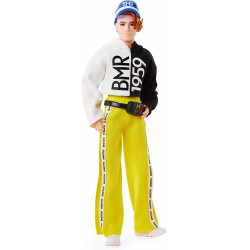 Кукла Кен Barbie Ken BMR1959 Fully Poseable Doll Red Hair with Freckles, Split Color Hoodie with Track Pants & Visor