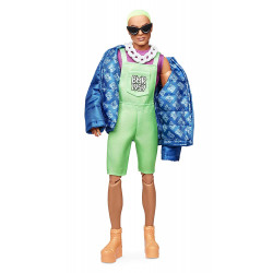 Кукла Кен Barbie Ken BMR 1959 Fully Poseable Fashion Doll with Neon Hair, Neon Overalls & Puffer Jacket
