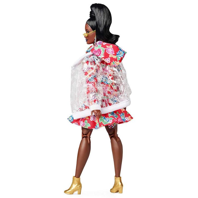Лялька Барбі Barbie BMR 1959 Fully Poseable Curvy Fashion Doll, Clear Vinyl Bomber Jacket & Floral Hoodie Dress