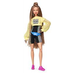 Кукла Барби Barbie BMR 1959 Fully Poseable Fashion Doll with Braided Hair, Bike Shorts, Romper & Cropped Sweatshirt