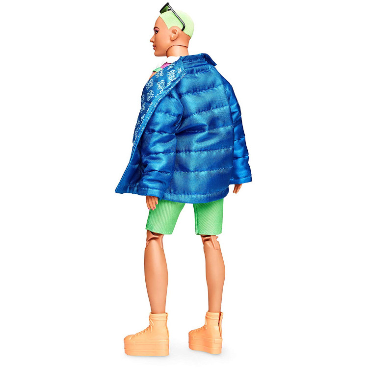 Лялька Кен Barbie Ken BMR 1959 Fully Poseable Fashion Doll with Neon Hair, Neon Overalls & Puffer Jacket