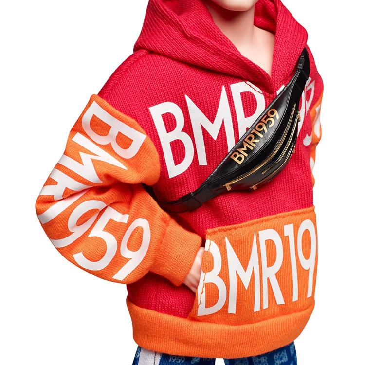 Лялька Кен Barbie Ken BMR 1959 Fully Poseable Fashion Doll with Bun, Bold Logo Hoodie & Basketball Shorts
