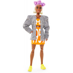 Кукла Барби Barbie BMR1959 Fully Poseable Fashion Doll Lilac Hair, Matching Logo Top and Skirt with Blazer