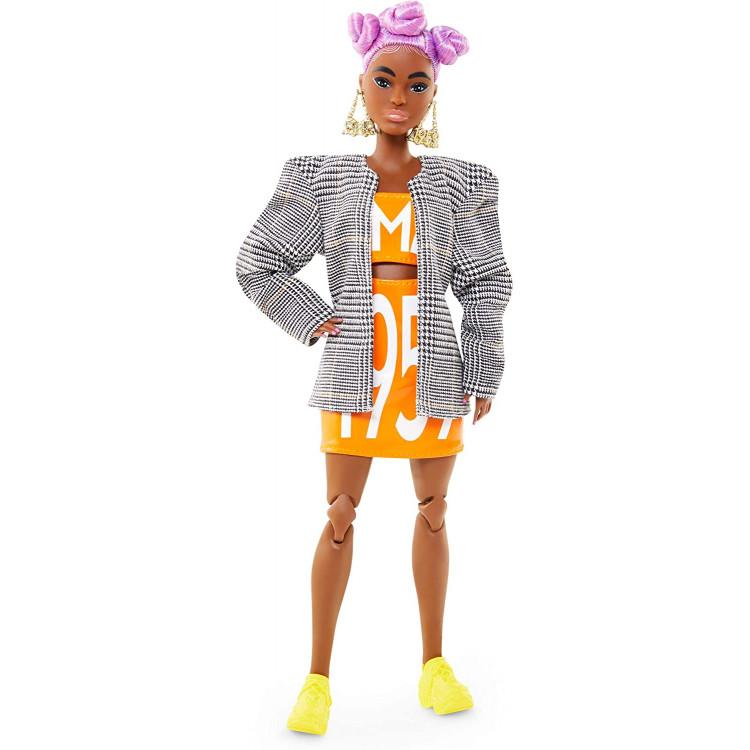 Лялька Барбі Barbie BMR1959 Fully Poseable Fashion Doll Lilac Hair, Matching Logo Top and Skirt with Blazer