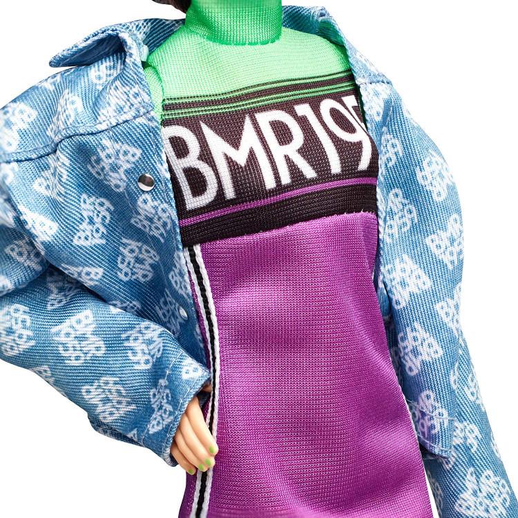 Кукла Барби Barbie BMR 1959 Fully Poseable Fashion Doll, Neon Motocross Dress & Oversized Denim Jacket