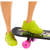 Лялька Барбі Екстра Модниця зі скейтбордом Barbie Extra Doll #4 with Skateboard & 2 Pet Kittens