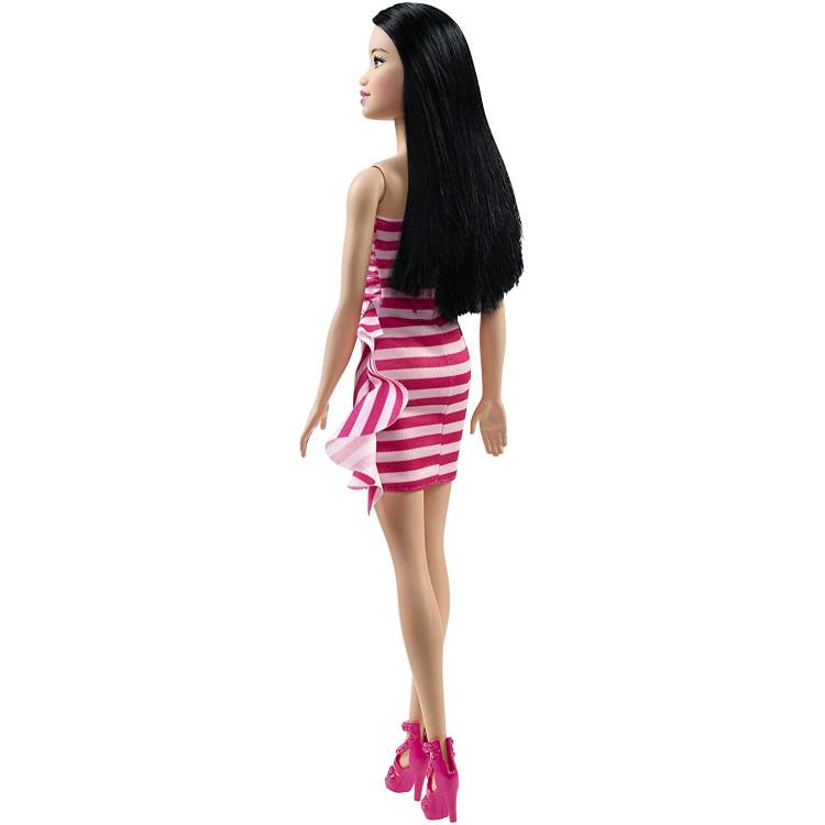 Барбі Блиск Barbie Glitz Doll, Pink & White Stripe Ruffle Dress