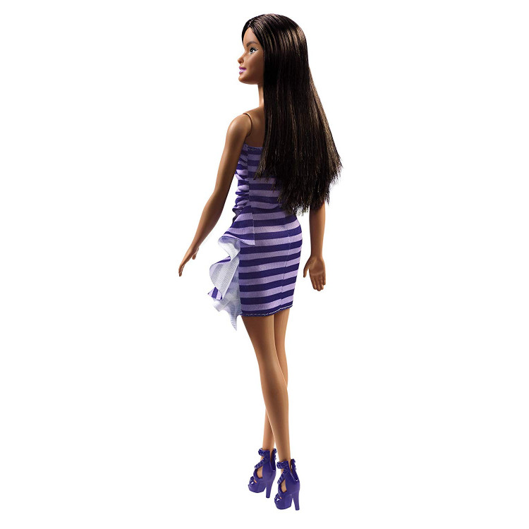 Барбі Блиск Barbie Glitz Doll, Purple & White Stripe Ruffle Dress