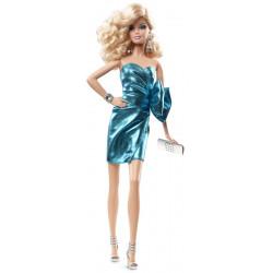 Кукла Барби Высокая Мода Городской блеск Barbie Look City Shine Doll Blue Dress