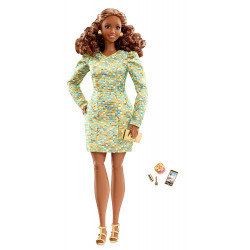 Кукла Барби Высокая Мода Ночной гламур Barbie The Look Metallic Mini Doll Nighttime Glamour