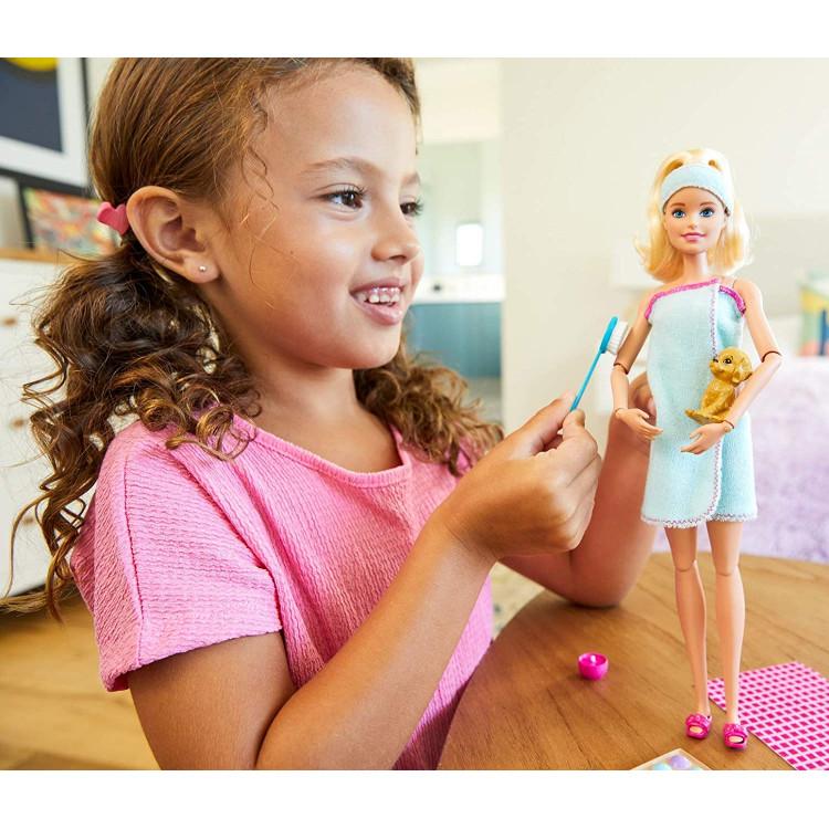 Кукла Барби СПА Релакс Barbie Spa Doll with Puppy, Blonde