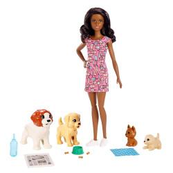 Кукла Барби уход за щенками Barbie Doggy Daycare, Brunette