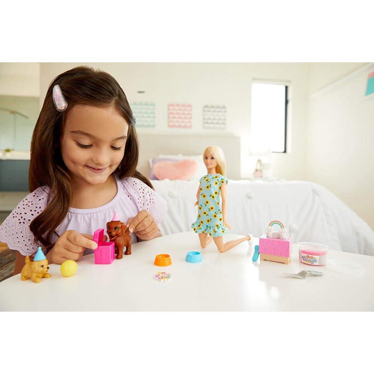 Лялька Барбі Вечірка для цуценят Barbie Doll & Puppy Party Playset, Blonde