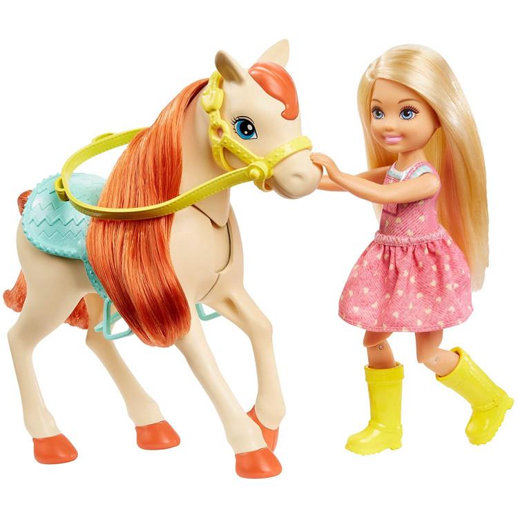 Ігровий набір Барбі та Челсі з кіньми Верхова їзда Barbie Hugs N Horses Playset with Barbie & Chelsea Dolls, Blonde