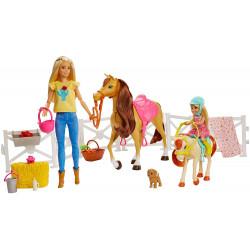 Игровой набор кукол Барби и Челси с лошадьми Верховая езда Barbie Hugs N Horses Playset with Barbie & Chelsea Dolls, Blonde