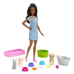 Кукла Барби Купай и играй Barbie Play 'N' Wash Pets Doll & Playset, Brunette