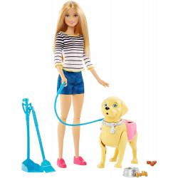 Кукла Барби с собакой на прогулке Barbie Walk & Potty Pup Playset, Blonde
