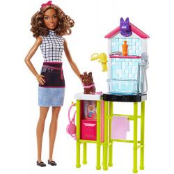 Салон по уходу за домашними животными и кукла Барби Barbie Pet Groomer Doll