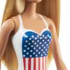 Кукла Барби в купальнике Блондинка Barbie Doll in Swimsuit with US Flag, Blonde