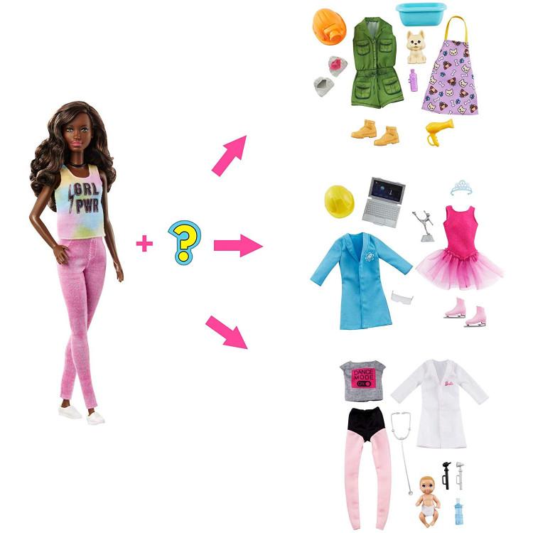Лялька Барбі Я можу стати Сюрприз Barbie You Can Be Anything Surprise Careers with Doll and Accessories, Dark Hair