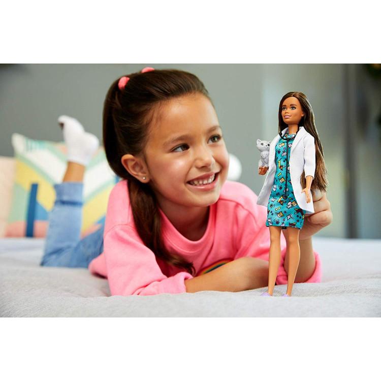Кукла Барби Я могу быть Ветеринар Barbie Careers Pet Vet Brunette Petite Doll