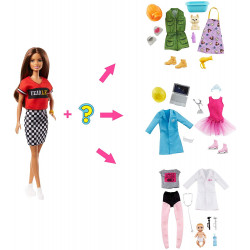 Кукла Барби Я могу быть Сюрприз Barbie You Can Be Anything Surprise Careers with Doll and Accessories, Brunette