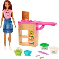 Игровой набор Сделай лапшу с куклой Барби Barbie Noodle Bar Playset with Brunette Doll