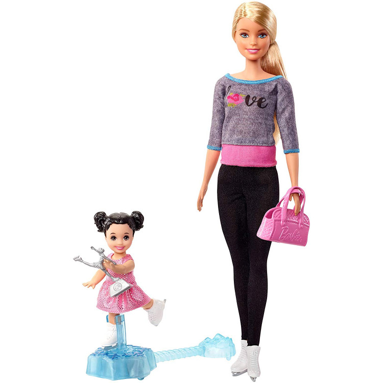 Кукла Барби Тренер по фигурному катанию Barbie Ice Skating Coach Doll & Playset, Blonde