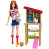 Кукла Барби куриная ферма Barbie Chicken Farmer Doll & Playset