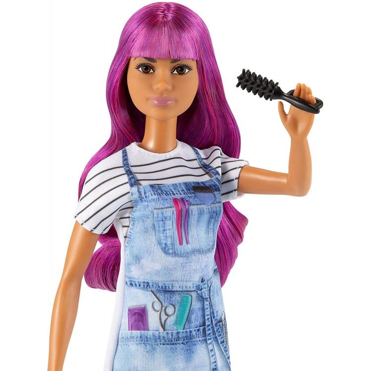 Лялька Барбі Перукар Barbie Salon Stylist Doll with Purple Hair